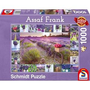 """Schmidt Spiele (59634) - Assaf Frank: """"The Scent of Lavender"""" - 1000 brikker puslespil"""