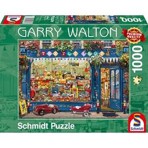 "Schmidt Spiele (59606) - Garry Walton: ""Legetøjsbutik"" - 1000 brikker puslespil"