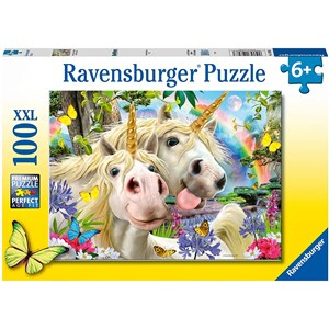 "Ravensburger (12898) - ""Don't Worry, Be Happy"" - 100 brikker puslespil"