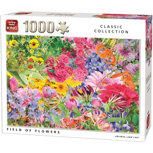 "King International (55944) - ""Field of Flowers"" - 1000 brikker puslespil"