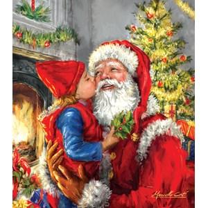 """SunsOut (60662) - """"Kissing Santa"""" - 500 brikker puslespil"""