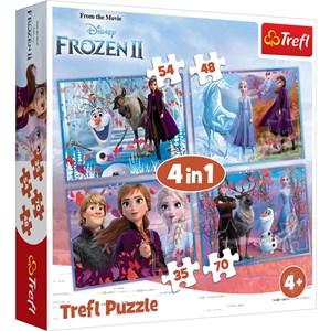 """Trefl (34323) - """"Frost 2, Ud i ukendt land"""" - 35 48 54 70 brikker puslespil"""