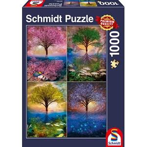 """Schmidt Spiele (58392) - """"Magisk træ ved søen"""" - 1000 brikker puslespil"""