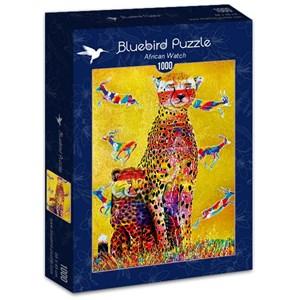 """Bluebird Puzzle (70301) - Graeme Stevenson: """"African Watch"""" - 1000 brikker puslespil"""