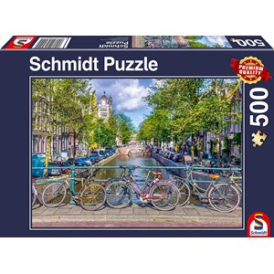 "Schmidt Spiele (58942) - ""Amsterdam"" - 500 brikker puslespil"
