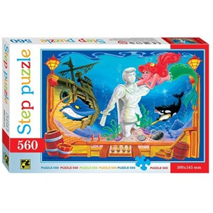 "Step Puzzle (78100) - ""The Little Mermaid"" - 560 brikker puslespil"