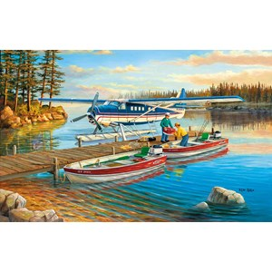 "SunsOut (39321) - Ken Zylla: ""Pickle Lake"" - 550 brikker puslespil"