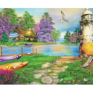 "SunsOut (66510) - Caplyn Dor: ""Seagull Bay"" - 1000 brikker puslespil"