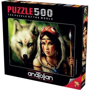 "Anatolian (3600) - ""Warrior Princess"" - 500 brikker puslespil"