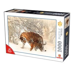 """Deico (75987) - """"Tigre dyr i sneen"""" - 1000 brikker puslespil"""