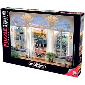 """Anatolian (1091) - """"Tagterrasse ved eiffel tårnet i Paris"""" - 1000 brikker puslespil"""