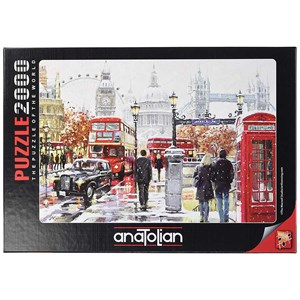 "Anatolian (3937) - ""Sne i London"" - 2000 brikker puslespil"