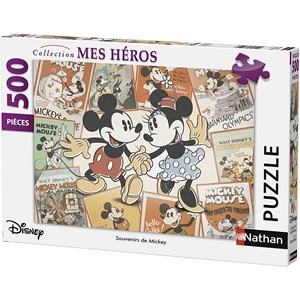 """Nathan (87217) - """"Mickey Mouse"""" - 500 brikker puslespil"""