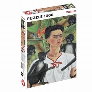 """Piatnik (5509) - """"Frida Kahlo, Self-portrait"""" - 1000 brikker puslespil"""