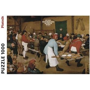 """Piatnik (5483) - Pieter Brueghel the Elder: """"Peasant Wedding"""" - 1000 brikker puslespil"""