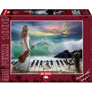 "Art Puzzle (4468) - ""Sea Symphony"" - 1000 brikker puslespil"