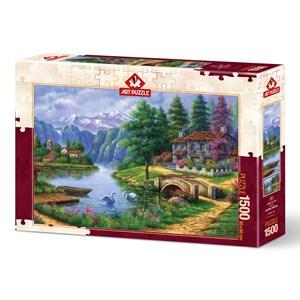 "Art Puzzle (5371) - ""Lake Village"" - 1500 brikker puslespil"