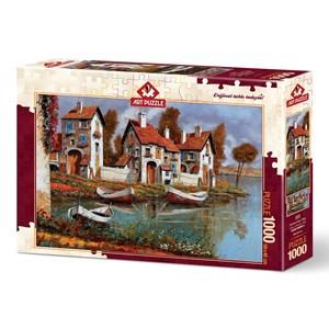 "Art Puzzle (4232) - ""Case a Cerchio, Italy"" - 1000 brikker puslespil"