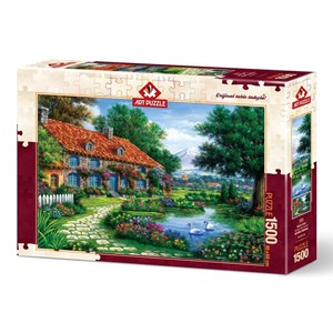 "Art Puzzle (4551) - ""The Garden"" - 1500 brikker puslespil"