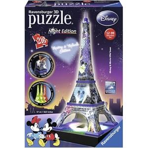 "Ravensburger (12520) - ""Disney Eiffel Tower"" - 216 brikker puslespil"