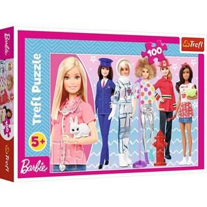 "Trefl (16385) - ""Barbie"" - 100 brikker puslespil"