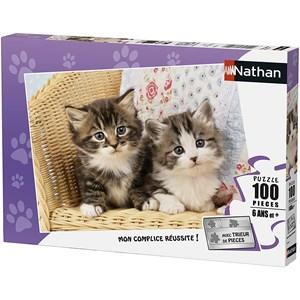 """Nathan (86766) - """"Kitten"""" - 100 brikker puslespil"""