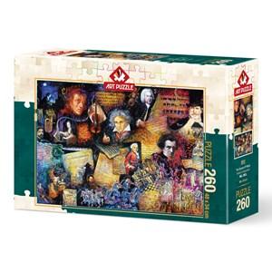 "Art Puzzle (5031) - Bill Bell: ""Music Lover"" - 260 brikker puslespil"