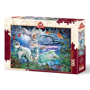 "Art Puzzle (5073) - Ciro Marchetti: ""Glacier Forest"" - 500 brikker puslespil"