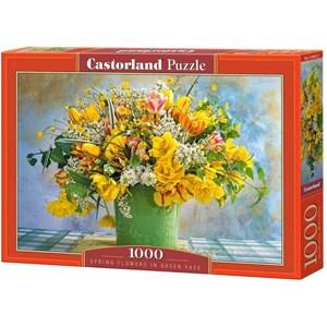 """Castorland (C-104567) - """"Spring Flowers in Green Vase"""" - 1000 brikker puslespil"""