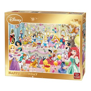 "King International (85523) - ""Disney, Happy Birthday"" - 1500 brikker puslespil"