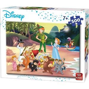 """King International (55913) - """"Disney, Peter Pan"""" - 500 brikker puslespil"""