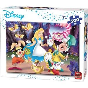 "King International (55914) - ""Disney, Alice in Wonderland"" - 500 brikker puslespil"