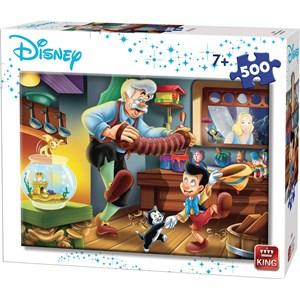 """King International (55915) - """"Disney, Pinocchio"""" - 500 brikker puslespil"""