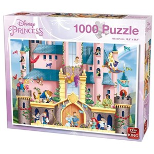 "King International (55917) - ""Disney Princess"" - 1000 brikker puslespil"