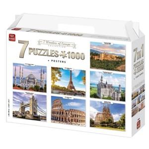 """King International (55929) - """"7 Wonders of Europe"""" - 1000 brikker puslespil"""