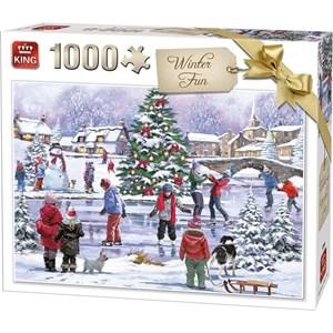 """King International (55935) - """"Winter Fun"""" - 1000 brikker puslespil"""