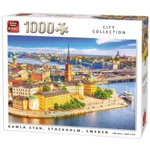 """King International (55952) - """"Gamla Stan, Stockholm, Sweden"""" - 1000 brikker puslespil"""