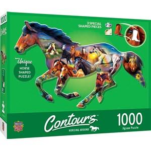 "MasterPieces (72052) - ""Wild Horse"" - 1000 brikker puslespil"