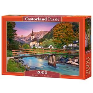 """Castorland (C-200801) - """"Sunset in Ramsau"""" - 2000 brikker puslespil"""
