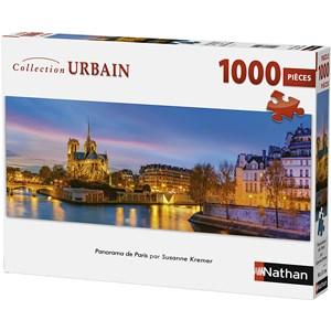 """Nathan (87577) - """"Paris, France"""" - 1000 brikker puslespil"""