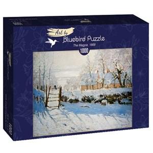 "Bluebird Puzzle (60041) - Claude Monet: ""The Magpie, 1869"" - 1000 brikker puslespil"