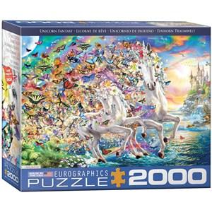 """Eurographics (8220-5551) - """"Unicorn Fantasy"""" - 2000 brikker puslespil"""