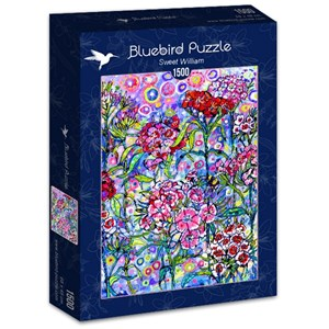 "Bluebird Puzzle (70432) - Sally Rich: ""Sweet William"" - 1500 brikker puslespil"