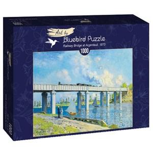 "Bluebird Puzzle (60038) - Claude Monet: ""Railway Bridge at Argenteuil, 1873"" - 1000 brikker puslespil"