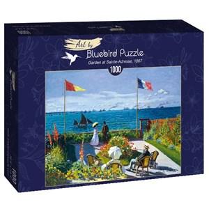 "Bluebird Puzzle (60042) - Claude Monet: ""Garden at Sainte-Adresse, 1867"" - 1000 brikker puslespil"