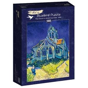 "Bluebird Puzzle (60089) - Vincent van Gogh: ""The Church in Auvers-sur-Oise, 1890"" - 1000 brikker puslespil"