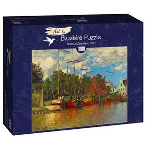 """Bluebird Puzzle (60031) - Claude Monet: """"Boats at Zaandam, 1871"""" - 1000 brikker puslespil"""