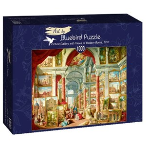"Bluebird Puzzle (60075) - Giovanni Paolo Panini: ""Picture Gallery with Views of Modern Rome, 1757"" - 1000 brikker puslespil"