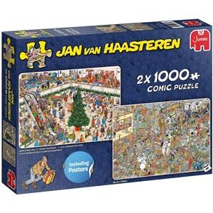 "Jumbo (20033) - Jan van Haasteren: ""Holiday Shopping"" - 1000 brikker puslespil"