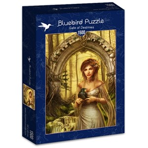 "Bluebird Puzzle (70428) - Cris Ortega: ""Gate of Destinies"" - 1500 brikker puslespil"